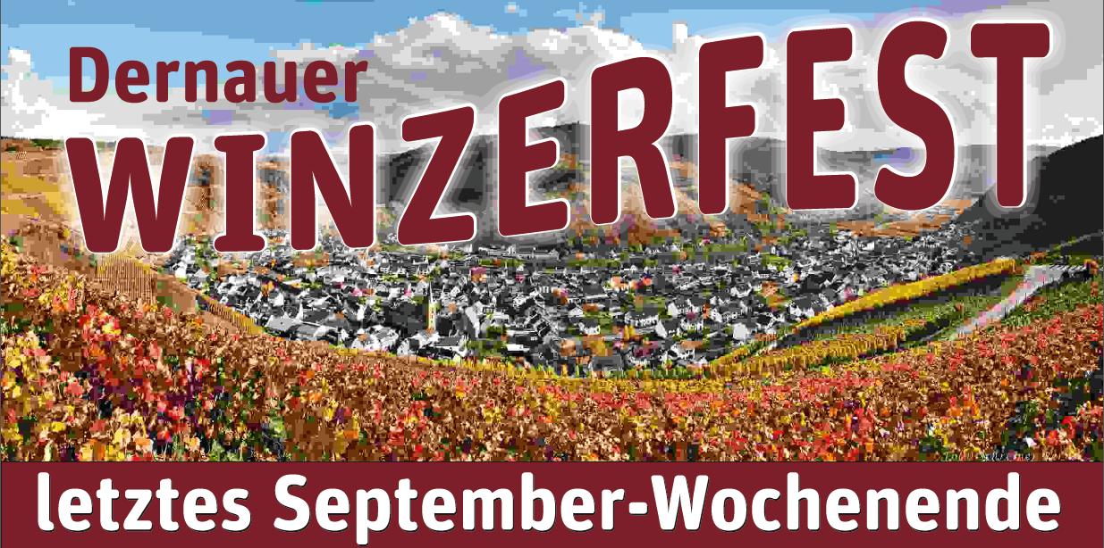 Winzerfest Schild